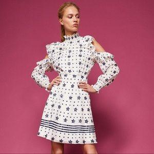 Ted Baker Stars & Stripes Cold Shoulder Dress